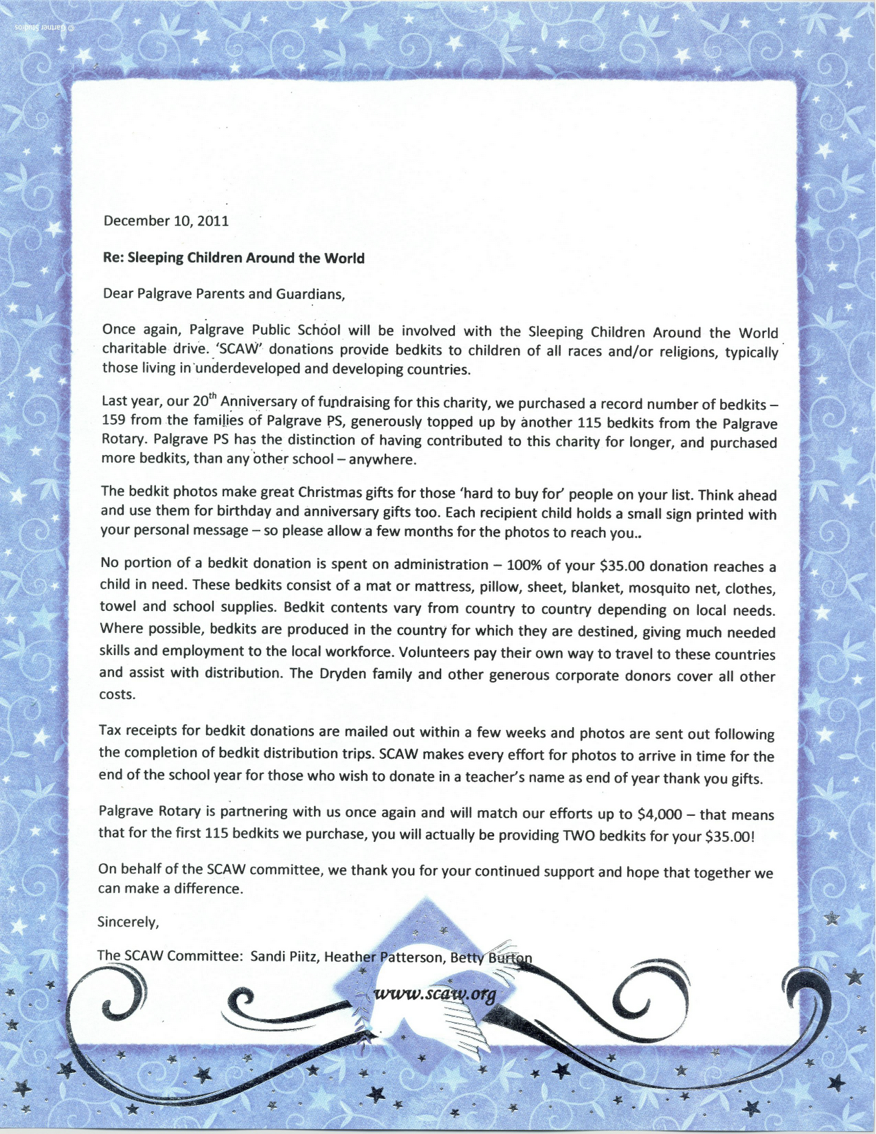 A Letter Sent To Palgrave Public School Parents