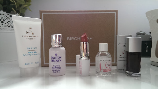 The contents of my September Birchbox