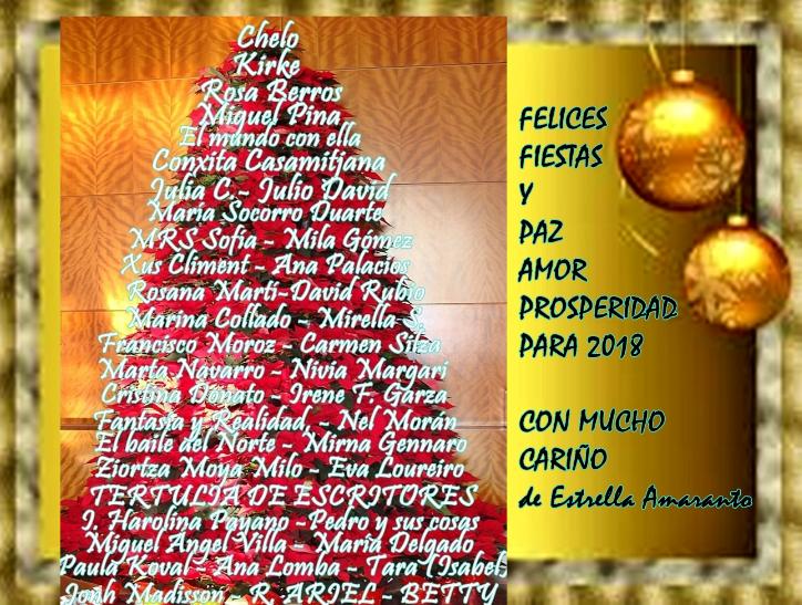 Una felcitación navideña de Estrella Amaranto