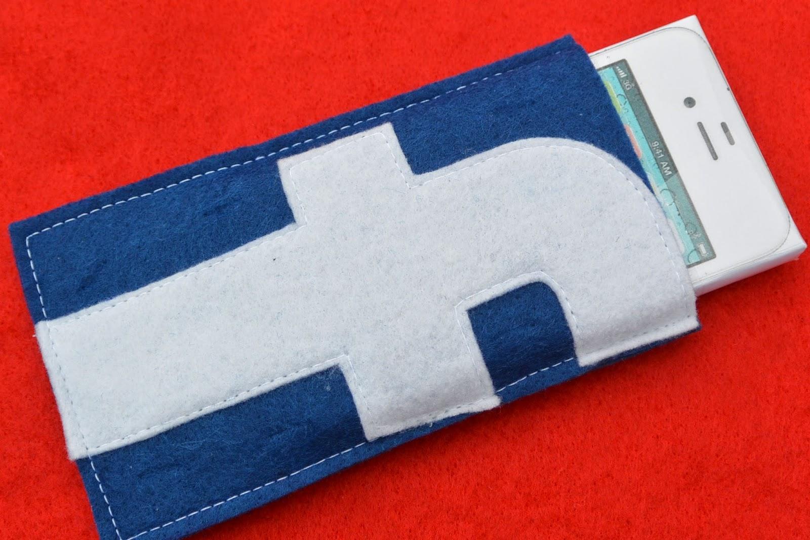 Housse en feutrine Facebook pour votre iPhone