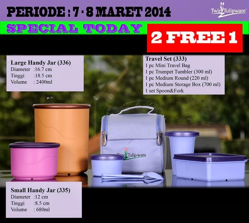 Promo Tulipware 7 dan 8 Maret 2014