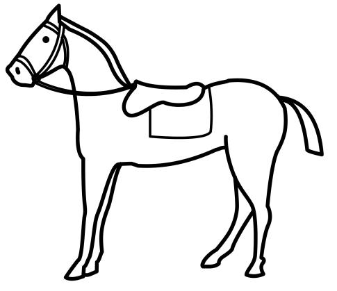 Dibujos para colorear de CABALLOS