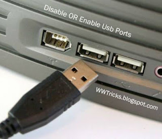 Usb ports - How to Disable or Enable usb ports in pc