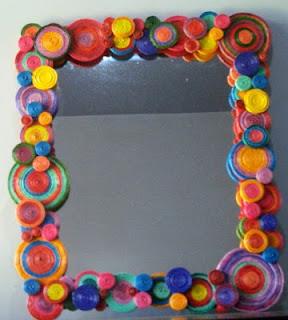 De mathaji para mathaji aprenda a reciclar espelhos for Marcos decorados para espejos