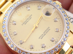 BULOVA CHRONO PRECISION DATEJUST DIAMOND INDEXES AND BEZEL - AUTOMATIC