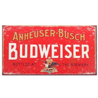 budweiser beer vintage tin sign for man caves