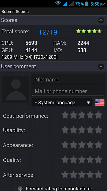 AnTuTu Benchmark v3.3 Zen Ultrafone 701HD