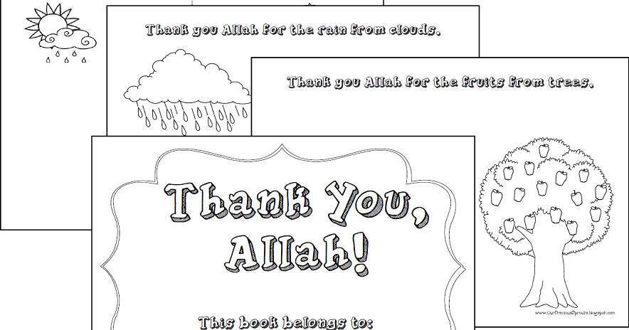 Our Precious Sprouts Homeschool Journal Thank You Allah