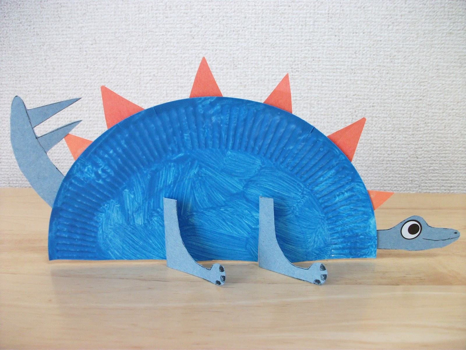 Preschool crafts for kids paper plate stegosaurus for Dinosaur crafts for toddlers