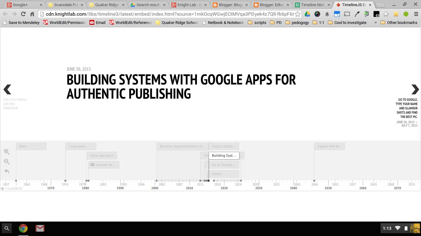 Timeline Maker 3, Beautiful Timelines Through a Google Form