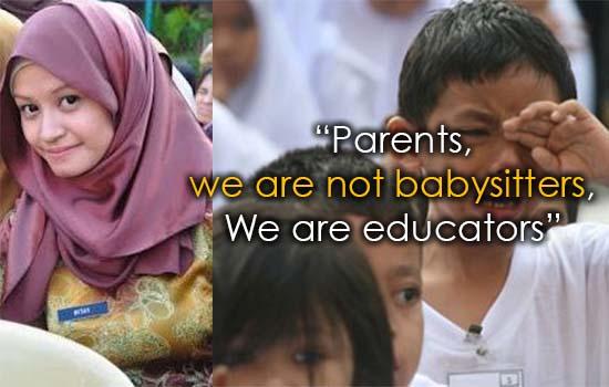 Mesej Sentap Seorang Guru 'Makan Gaji Buta' Untuk Ibu Bapa