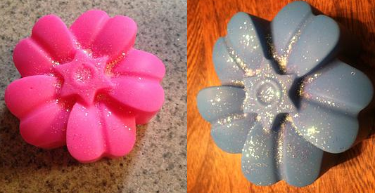flower wax tart with jewelry