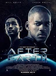 Jaden Smith with his real father Will Smith at the movie, After Earth.