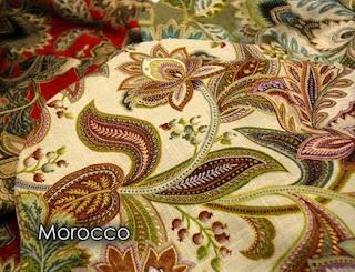 Morocco, linen, print, color palette