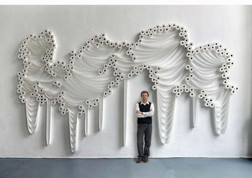 Toilet paper wall art
