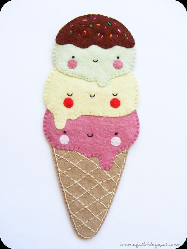 Как сделать закладку в виде мороженого