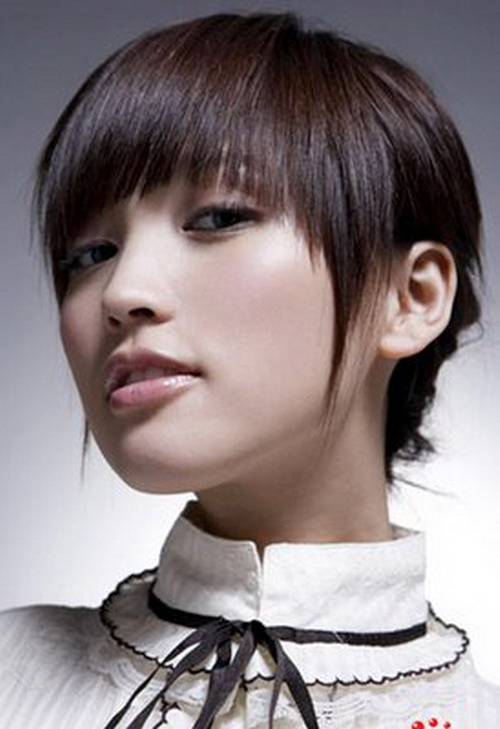 Short Hair For Round Faces Asian : Short hairstyles for round faces hair braiding style