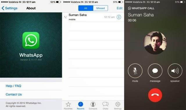 بالصور خاصية المكالمات الصوتية لـ واتس آب تدشن ظهورها على iOS