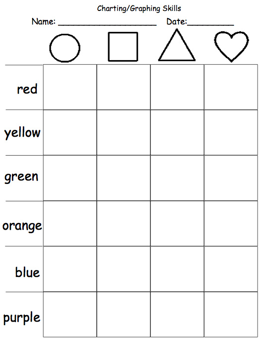 Autism Tank: Beginning Charting/Graphing Skills Worksheets