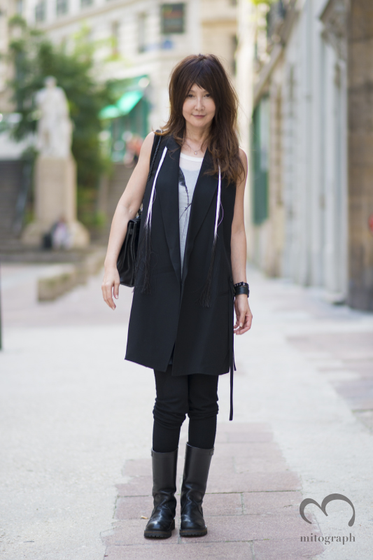 Japanese Talent You after Ann Demeulemeester show during Paris Fashion Week 2014 Spring Summer PFW