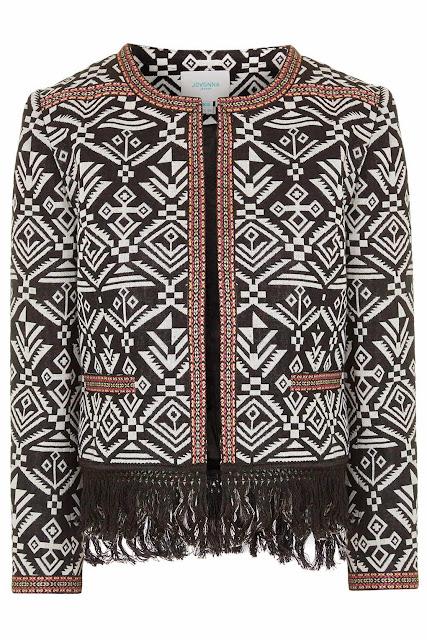 jovonna tassel coat, tassel print jacket,