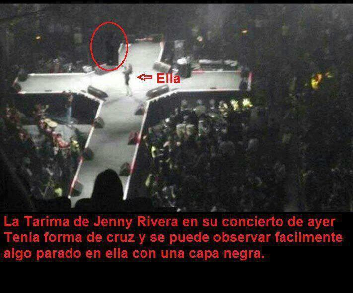 FOTO TENEBROSA De La Noche De La Muerte De JENNY RIVERA, Su Ultimo
