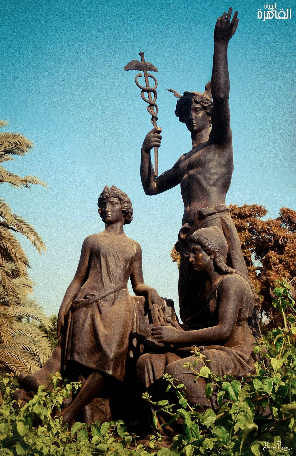 تمثال الرخاء بساحة دار الأوبرا المصرية - الحاية في القاهرة