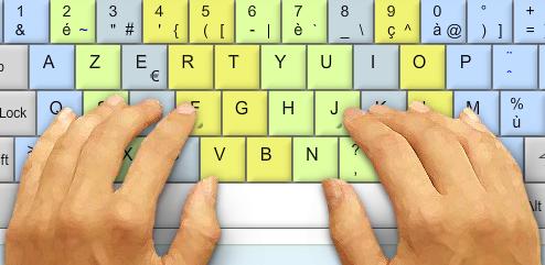 Comment apprendre taper plus rapidement sur son clavier for Les parties du clavier