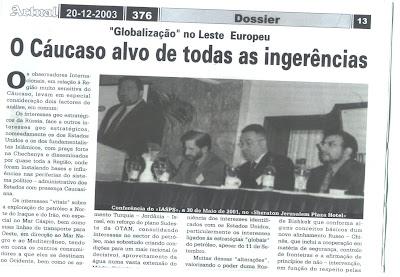 O CÁUCASO ALVO DE TODAS AS INGERÊNCIAS