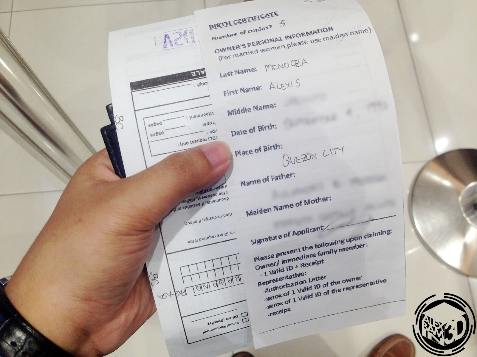 Getting your nso birth certificate at sm business center alexbamin3d payment for your birth certificate copy is 140php each same as when you request directly at nso sm charges an additional 20php aiddatafo Gallery