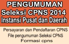 Formasi CPNS Jawa Tengah 2014