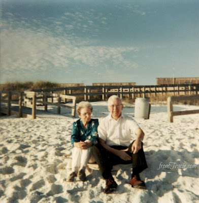 Grandma and Grandpa At The Beach