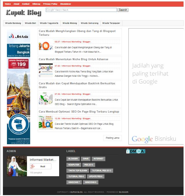 Cara Mudah Membuat Tampilan Blog menarik dan Keren