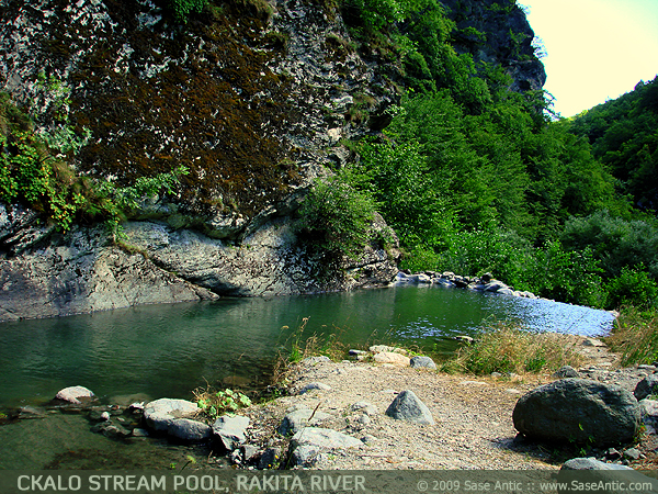 Ckalo Stream Pool at Rakita River (Racita River) Near Vratnica