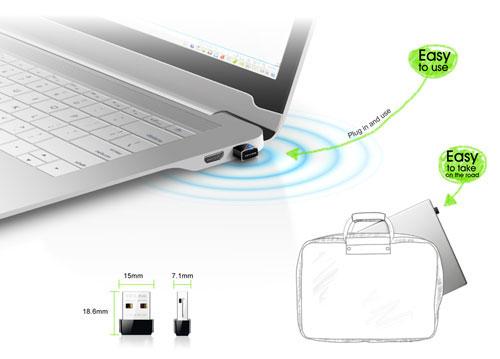 USB Wifi TP LINK TL-WN725N - desain ramping port USB