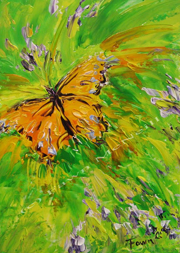 Fawn's Paintings: Butterfly Wishes, abstract palette knife ...