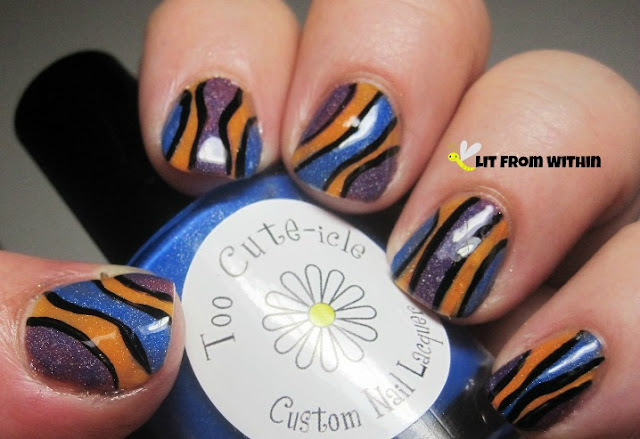 This mani reminds me of Finding Nemo