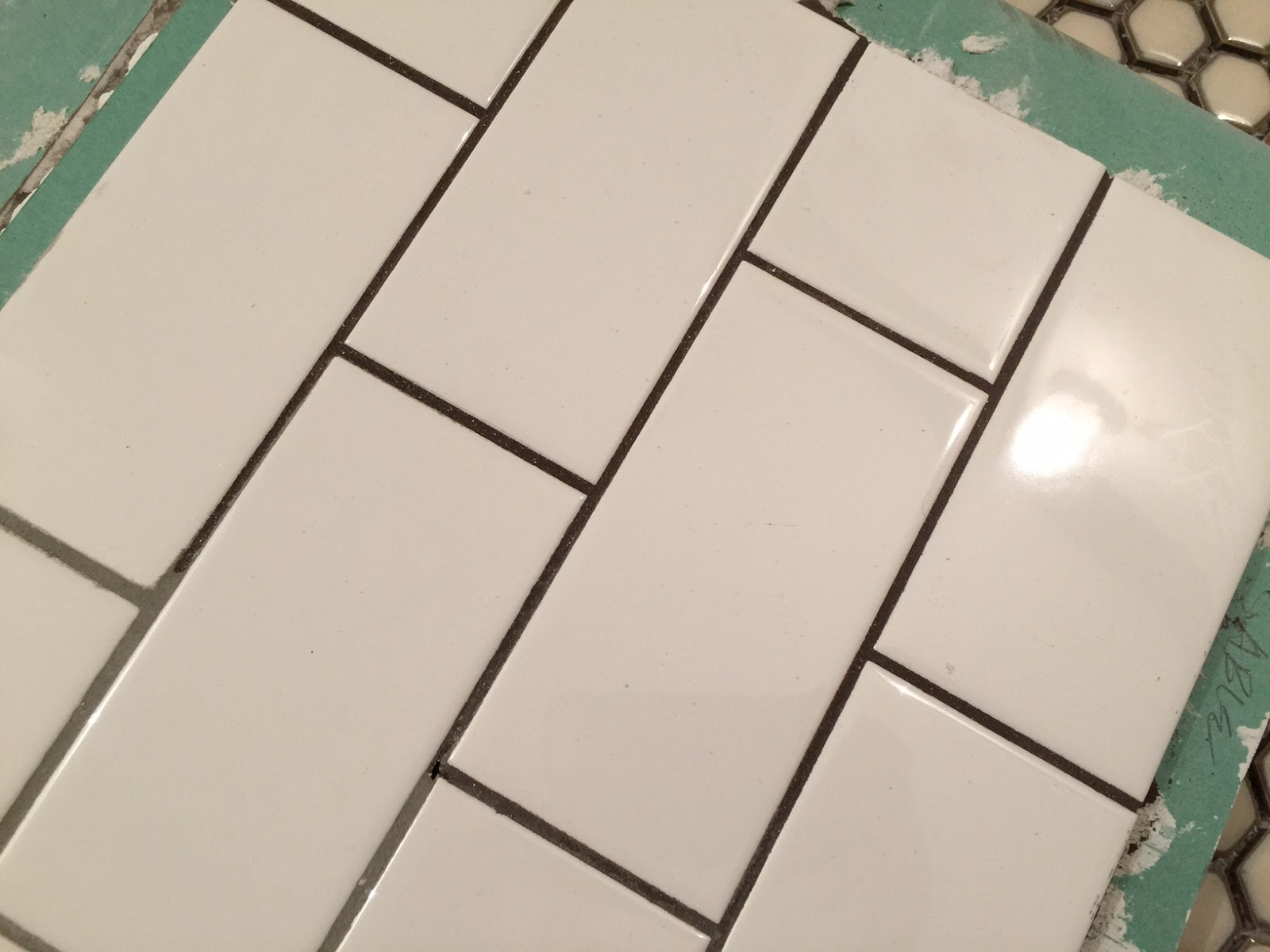Of Cats and Cardstock: Bathroom Remodel: Grout Colors