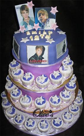 Justin Bieber Theme Cake