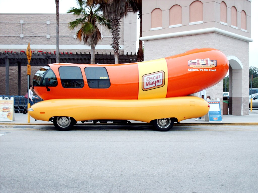 Oscar Meyer Weinermobile furthermore Oscar Mayer Wienermobile 1952 besides 15 awesome customized car also Oscar Mayer Wienermobile Front Side View likewise Are You Protected When You Have A  pany Car. on oscar myer weiner