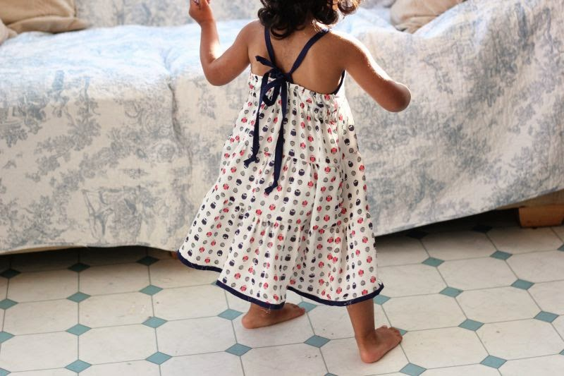 tie back tier dress free pattern