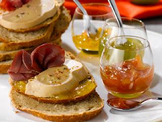 Carpaccio foie gras magret de canard