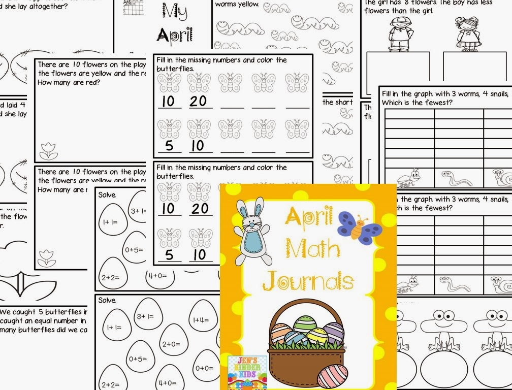 http://www.teacherspayteachers.com/Product/Math-Journals-for-April-595495
