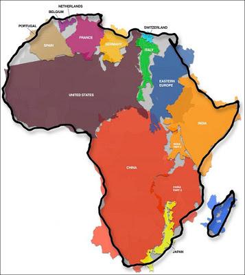 アフリカ大陸 地図 面積 大きさ