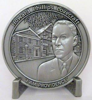 H.P. Lovecraft Commemorative Coin, fronte