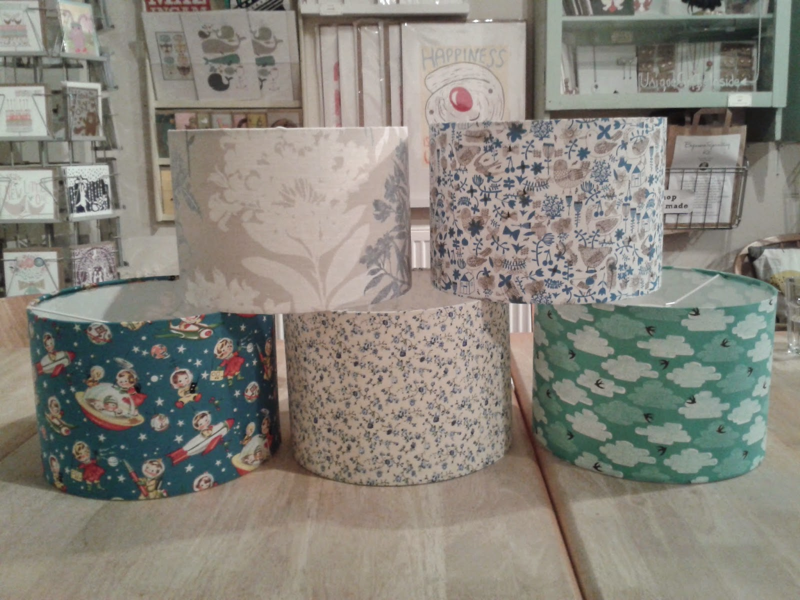 handmade lampshades from lampshade making workshop
