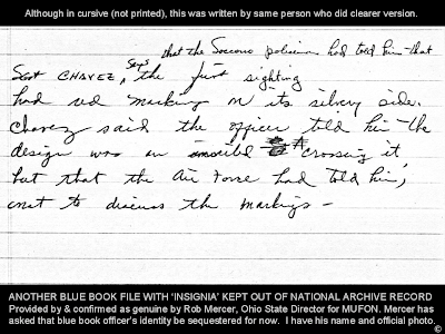 Initial Blue Book Telephone Notes Re Socorro - Red Marking