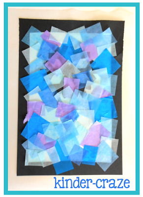"directions to make tissue paper ""stained glass"" windows"