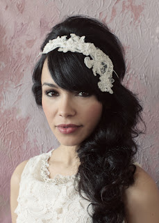Amalie lace headband