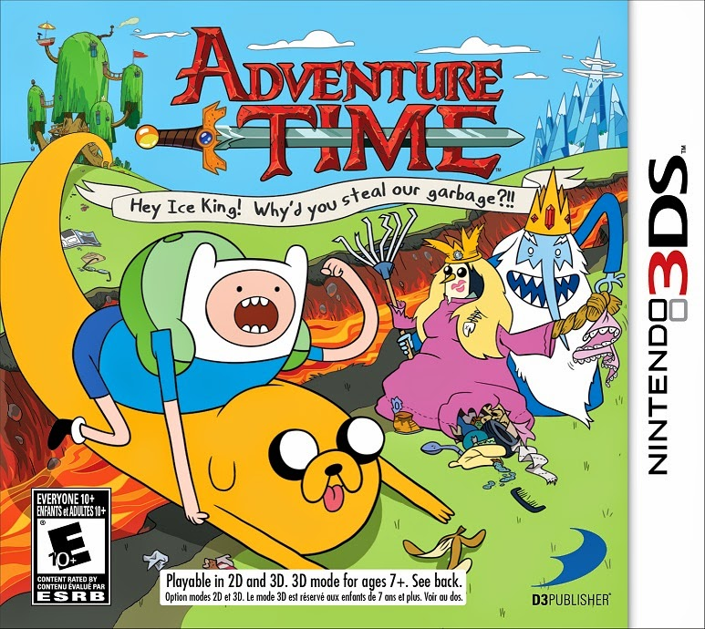 3DS Adventure Time Hey Ice King! Why'd you steal our garbage!! Cover